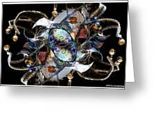 Mardi Gras Medusa Greeting Card