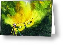 Mardi Gras On Green Greeting Card
