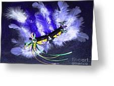Mardi Gras On Purple Greeting Card