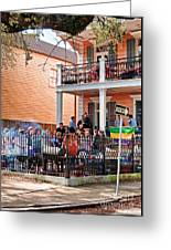 Mardi Gras Party On St Charles Ave New Orleans Greeting Card