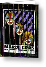 Mardi Gras Poster New Orleans Greeting Card