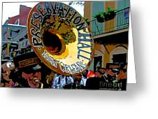 Mardi Gras Preservation Hall Photo Artistic Greeting Card