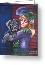 Mardi Gras Puppy Greeting Card