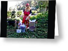 Mardi Gras Scarecrow At Bellingrath Gardens Greeting Card