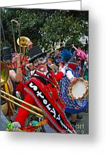 Mardi Gras Storyville Marching Group Greeting Card