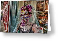 Mardi Gras Voodoo In New Orleans 2 Greeting Card by Louis Maistros