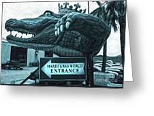 Mardi Gras World - Alligator Greeting Card