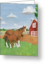 Mare And Colt Greeting Card