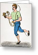 Mareys Apparatus To Register Paces, 1874 Greeting Card by Getty Research Institute