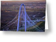 Margaret Hunt Hill Bridge Central Arch Greeting Card
