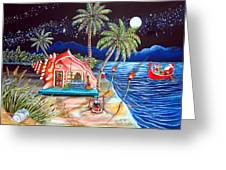 Margaritaville Conch Christmas Greeting Card