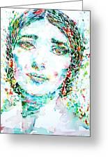 Maria Callas - Watercolor Portrait.1 Greeting Card