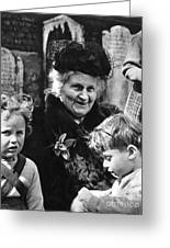 Maria Montessori Greeting Card