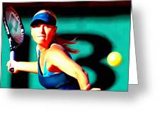 Maria Sharapova Tennis Greeting Card