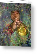 Mariachi Trumpet Player Greeting Card