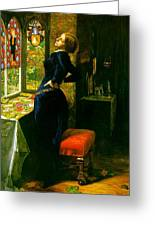Mariana In The Moated Grange 1851 Greeting Card