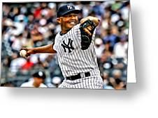 Mariano Rivera Painting Greeting Card