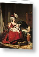 Marie Antoinette And Her Children Greeting Card by Elisabeth Louise Vigee-Lebrun