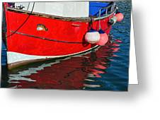 Marie F At The Harbour Greeting Card