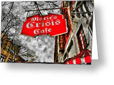 Marie's Crisis Cafe Greeting Card