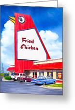 Marietta's Big Chicken Greeting Card by Mark E Tisdale