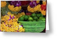 Marigolds And Limes Greeting Card