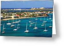 Marigot Harbor St. Martin Greeting Card
