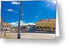 Marija Bistrica Square Colorful Panorama Greeting Card