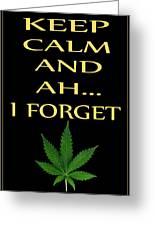 Marijuana 4 Greeting Card