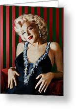 Marilyn 126 D Stripes Greeting Card