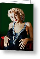 Marilyn 126 Green Greeting Card