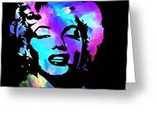 Marilyn Art Greeting Card by Kenneth Feliciano