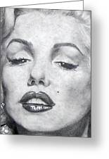 Marilyn Closeup Greeting Card