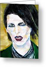 Marilyn Manson Oil Portrait Greeting Card