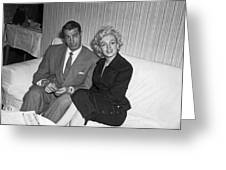 Marilyn Monroe And Joe Dimaggio Greeting Card