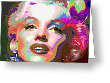 Marilyn Monroe 01 - Abstarct Greeting Card