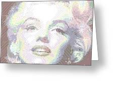 Marilyn Monroe 01 - Parallel Hatching Greeting Card