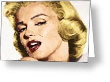 Marilyn Monroe 08 Greeting Card