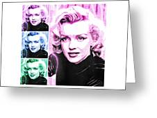 Marilyn Monroe Art Collage Greeting Card