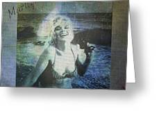 Marilyn Monroe At The Beach Greeting Card