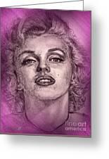 Marilyn Monroe In Pink Greeting Card