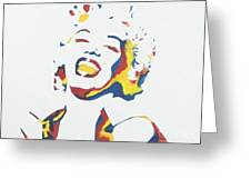 Marilyn Monroe Greeting Card by Juan Molina