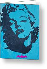 Marilyn Monroe Loves Batman Greeting Card