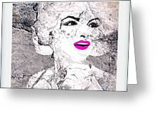 Marilyn Monroe Movie Poster Greeting Card