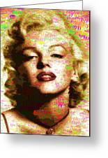 Marilyn Monroe Name Characters Greeting Card