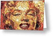 Marilyn Monroe On The Way Of Arcimboldo Greeting Card