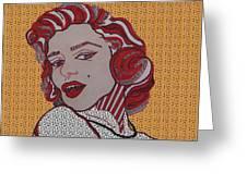 Marilyn Monroe Orange Greeting Card