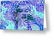 Marilyn Monroe Out Of The Blue Greeting Card