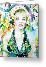 Marilyn Monroe Portrait.1 Greeting Card