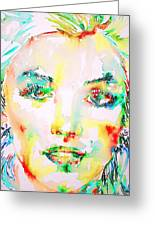 Marilyn Monroe Portrait.5 Greeting Card